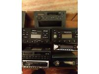Job lot of car CD and cassette players