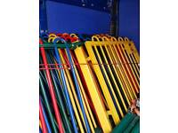 Coloured Bow Fencing With Gate heavy duty fencing 8ft Long