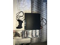 PS3 slim 160gb with 5 games, controller, cables