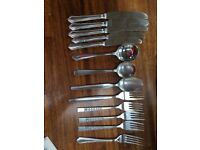 Cutlery - stainless steel - knives forks spoons