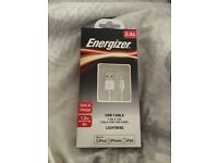 2.4A energizer USB cable sync & charge 1.2 __4m new unopened