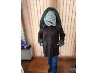 Ladies Faux Leather Coat