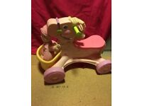 Fisher price horse and doll