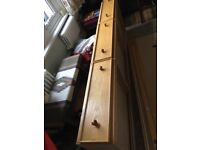 Single bed 3 x drawers and 2xside bars