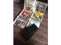Nintendo DS games and case with 2 stylus