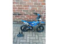 Childrens blue motor bike look Bike