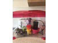 Fish tank water filter etc