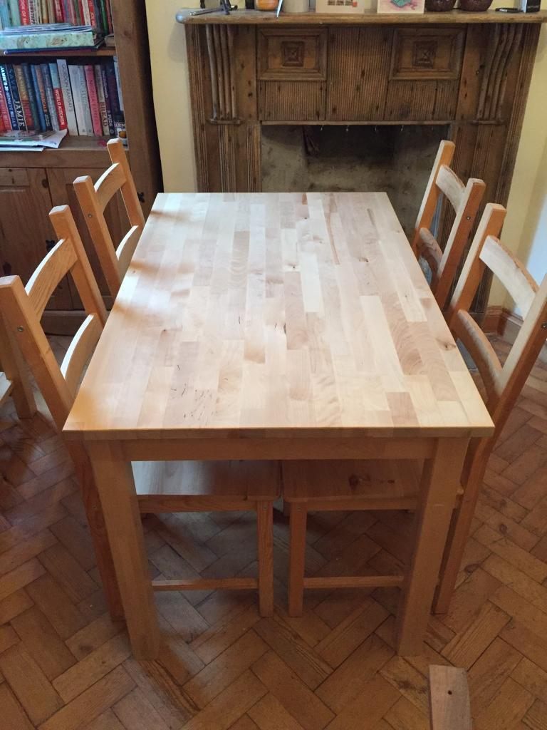 Ikea IngoIvar dining table with 4 chairs in Cinderford  : 86 from www.gumtree.com size 768 x 1024 jpeg 90kB