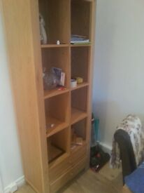 Solid shelved unit
