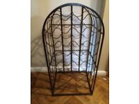Distressed finish wine rack to hold 30 bottles