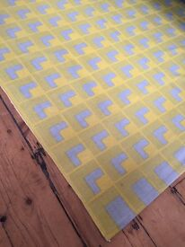 HABITAT CHROMA yellow and grey cotton rug 140 x200cm