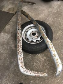 Lotus Elan 2+2. Front and rear bumper bars 5 complete wheels windscreen all secondhand