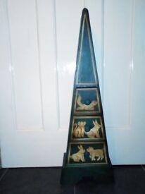 Small unusual pyramid drawers