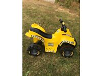 Toddlers Tonka 12v ride on quad bike (electric operated) vgc