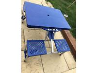 Camping Fold Away 4 Seater Table & Chairs