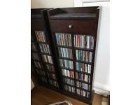 Dark hardwood CD / DVD cabinets
