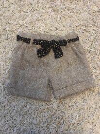 Tweed shorts size 1-2 years fab!