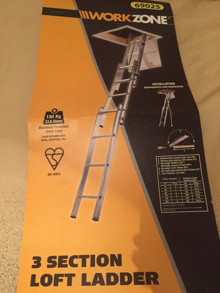 Work Zone 3 Tier Loft Ladders Brand New In Falkirk Gumtree