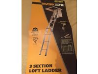 Work zone 3 tier loft ladders brand new