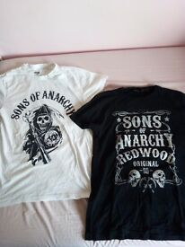 2 Sons of Anarchy Men's T-Shirts, Medium