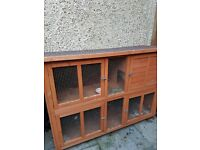 2 tier hutch ideal for guinnea pigs or 2 rabbits