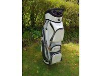 Golf club bag, Motocaddy pro series cart bag white
