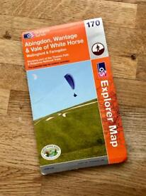 OS Ordnance Survey Map: Abingdon, Wantage and Vale of White Horse