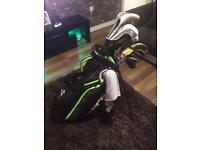 Cobra golf clubs and odyssey putter with bag