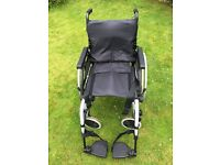 Lightweight wheelchair - hardly used