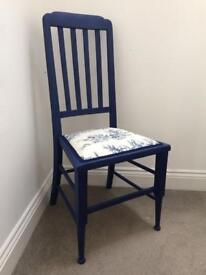 NEW upholstered oak chair in Navy Blue
