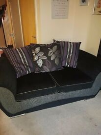 2x 2 seater sofa