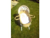 Baby moses basket. Used.