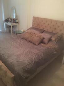 Mink Gold Bed velvet chenille