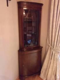 Antique Mahogany corner unit