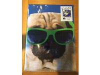 PUG DESIGN - DOUBLE DUVET COVER & 2 PILLOWCASES - BRAND NEW & UNOPENED