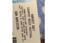 x2 Weekend Harvest festival tickets Enniskillen airport