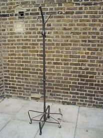 FREE DELIVERY Black Metal Hat And Coat Stand Furniture