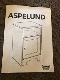 ASPELUND IKEA bedside table