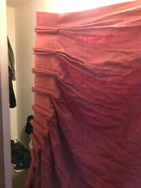 Linen strawberry curtains fully lined