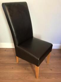 4 Black Leather Dining Chairs (Lower Price)