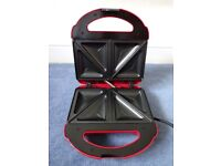 2 Slice Toastie Machine, Poppy Red Colour **Never been used**