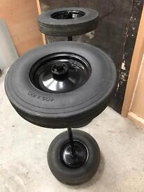 Wheels with axles