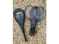 Tennis/squash/badminton rackets x3