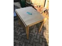 Gate leg table beech wood dining table