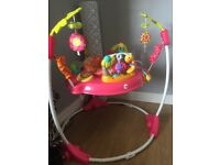 Fisher price PINK PETALS jumperoo in fantastic condition