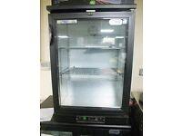 Parry single door back bar fridge with hinged door (new)