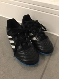 Boys Adidas Astro Turf trainers 12K