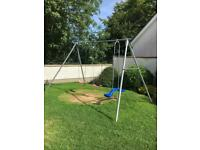 TP metal swing set with see-saw