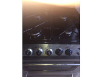 gas cooker double oven inox look...nice design...in 60 cm, free delivery