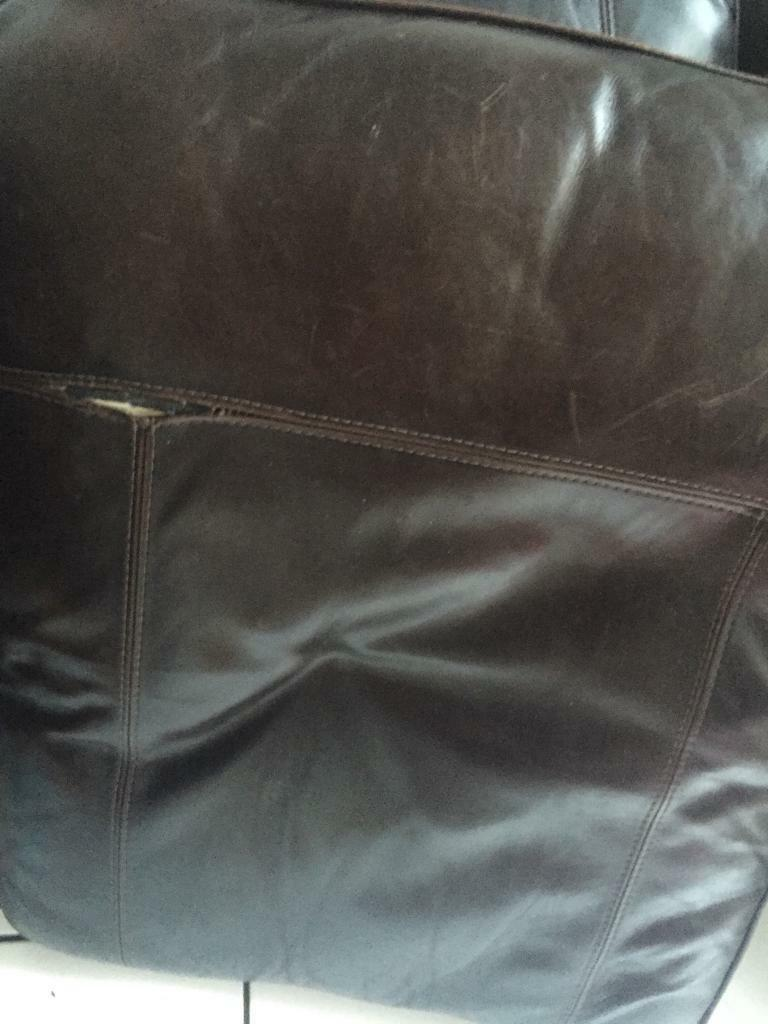 Large leather sofa free to a good home
